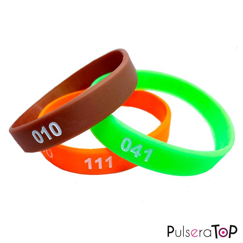 Pulseras de Silicona numeradas